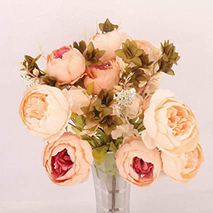 Amazon Homze Fall Decorations 13 Heads Artificial Flowers 1
