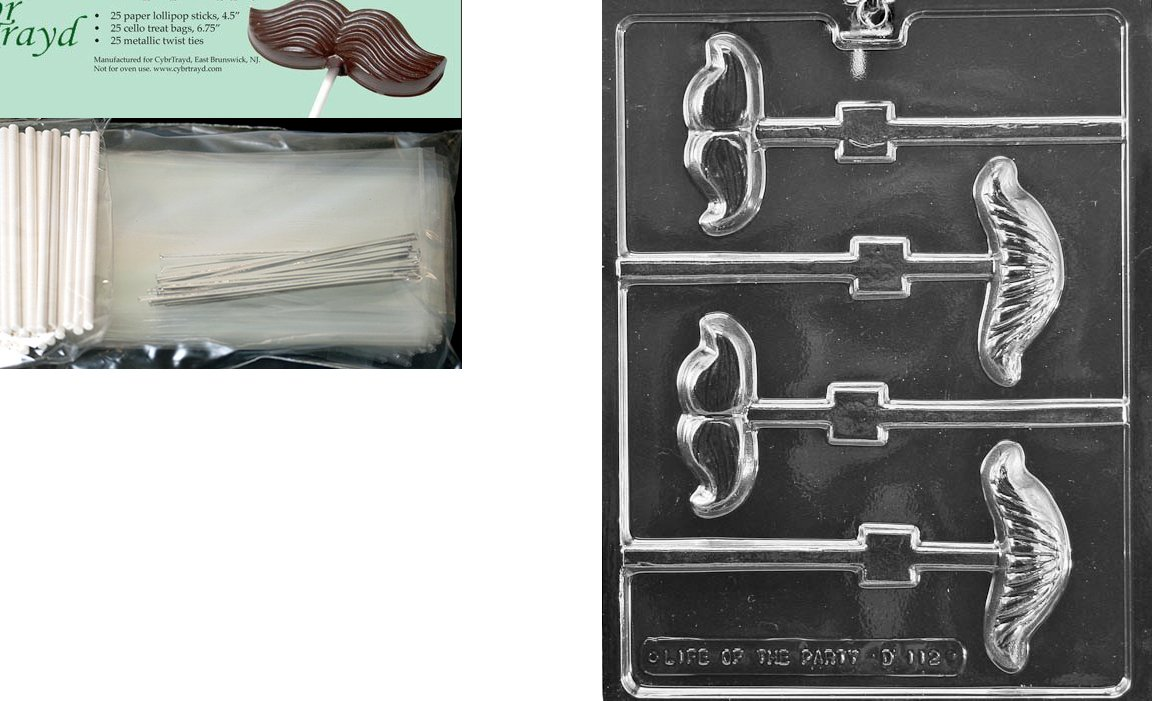 Includes 25 Cello Bags and 25 Blue Twist Ties CybrtraydTea Pot Chocolate Candy Mold//Packaging Bundle