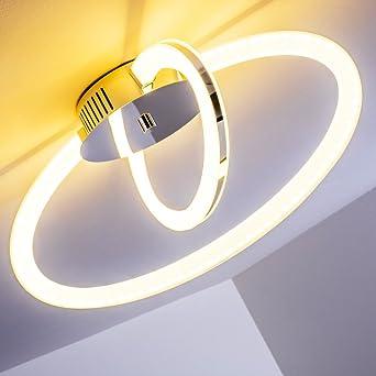 Decken-Lampe im modernen Design – Metall-Lampe mit verstellbaren ...