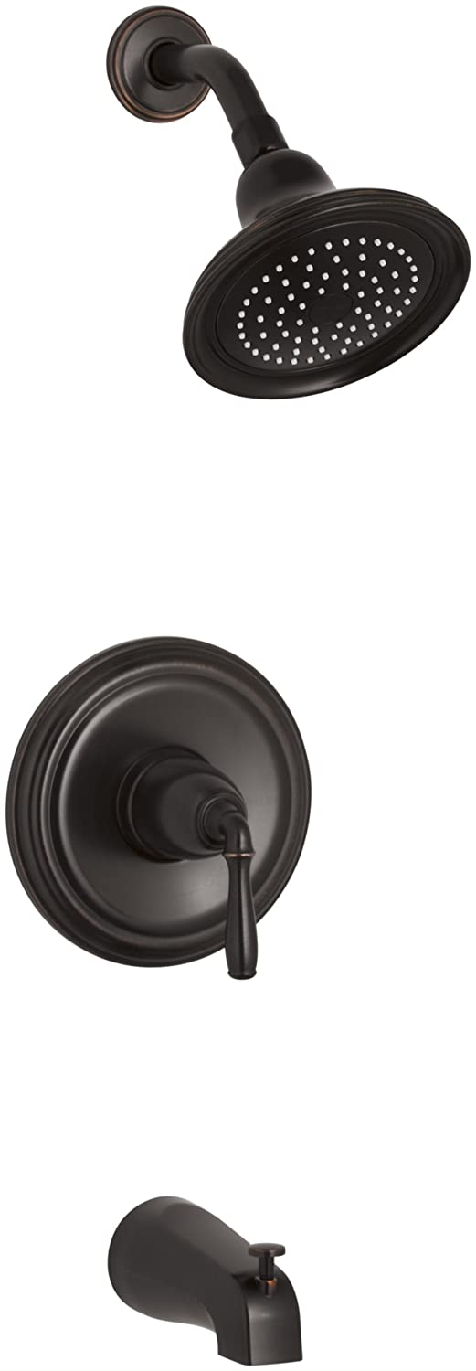 Kohler K-T395-4E-2BZ Devonshire Rite-Temp Pressure Balancing Tub and Shower Faucet Trim, Oil Rubbed Bronze