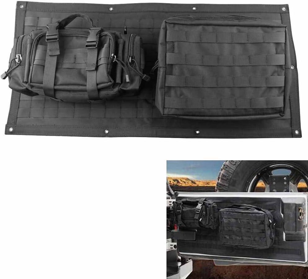 Bosmutus Tailgate Bag Case Cover for 1996-2018 Jeep Wrangler JK CJ YJ JL Tool Organizer Pockets