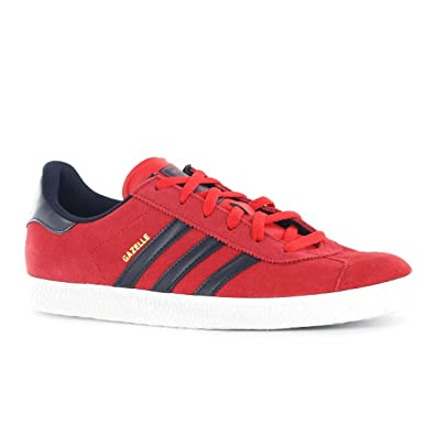 Adidas Gazelle 2 J Red Black Youth Trainers Size 5 UK  Amazon.co.uk  Shoes    Bags 28f98fa84