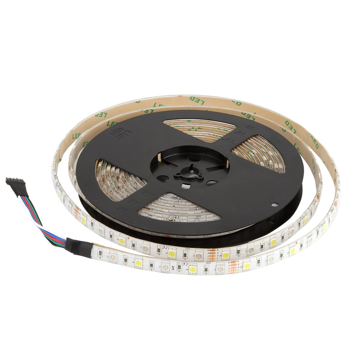 SUPERNIGHT 16.4ft 5050 300leds Waterproof RGBW LED Strip Flexible Light - Black Roll by SUPERNIGHT (Image #9)