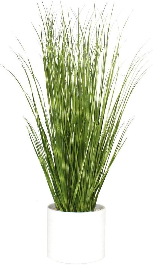 "Artificial Plant Dandelion Grass 13"" PVC with Ceramic Pot for Home Decor"