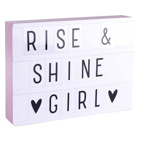 Lightbox A4 - recinto luminosa blanco & rosa + 85 letras y ...