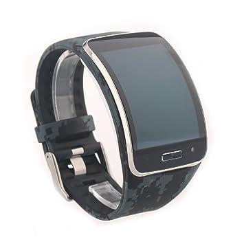 VAN+ Correa de reloj para samsung Galaxy Gear S pulsera R750 SmartWatch Bandas de reemplazo de muñequera(Multi color opcional): Amazon.es: Deportes y aire ...