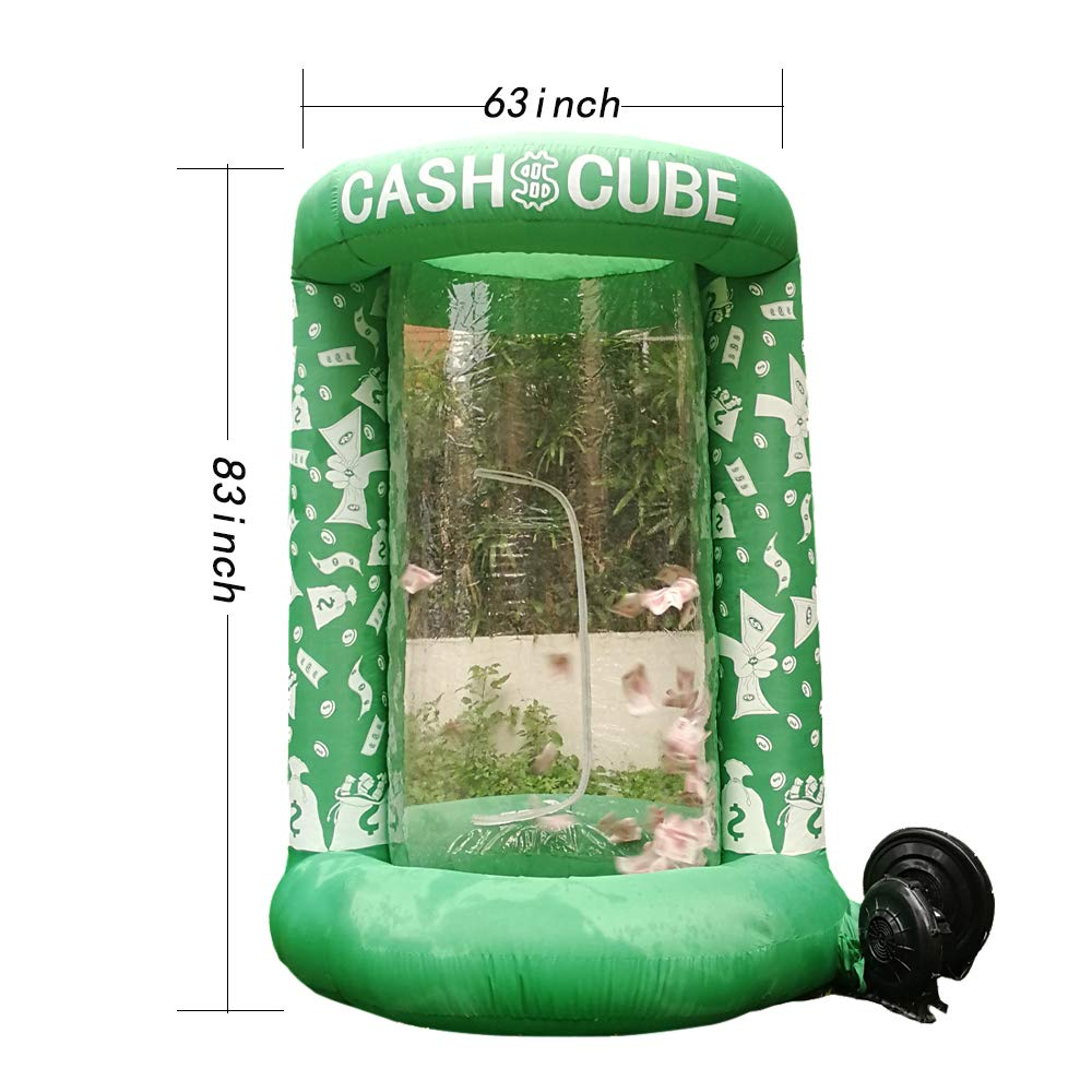 Inflatable Cash Cube Booth for Advertisment, Inflatable Money Grab Machine for Event (No Blower Included) (Green) by Inflatable brother (Image #2)