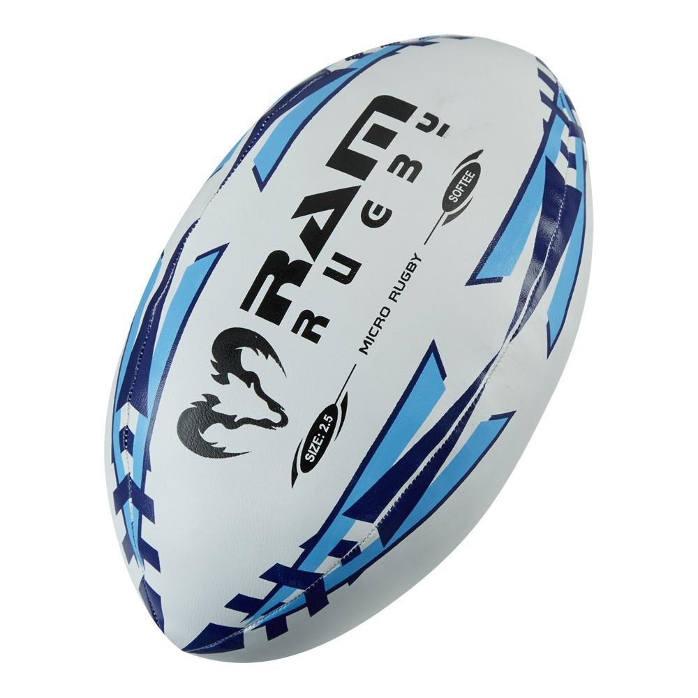 RAM Rugby Micro Softee Rugby Ball – サイズ2.5 – スカイブルー B076DJ7YB3