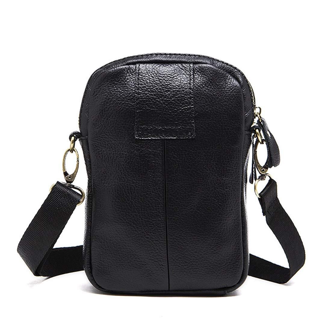 XIAMEND Mens Messenger Shoulder Bag Vintage Leather Briefcase Crossbody Bag Color : Coffee Color