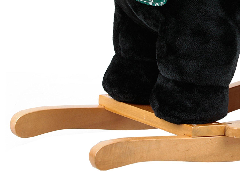 Dunjo/® Baby Schaukelpferd bis 30 kg belastbar Schaukeltier Panda mit Soundmodul
