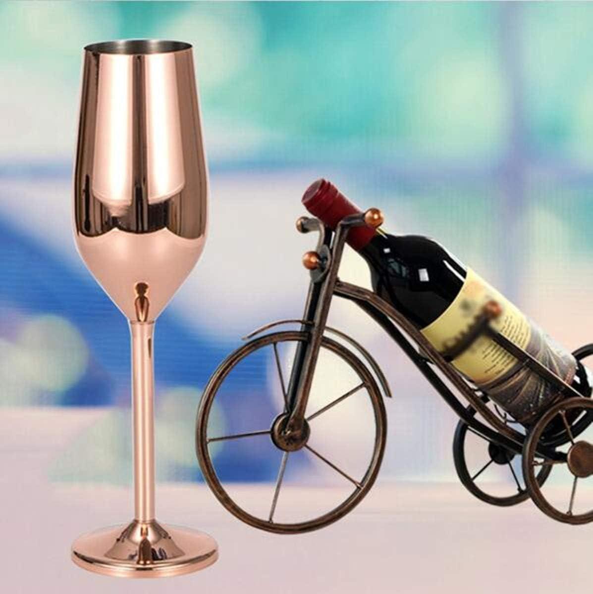 3 Farben silberfarben BPA-frei f/ür Hochzeit Partys und Jahrestag Edelstahl Sektgl/äser Edelstahl 200 ml 200 ml unzerbrechlich