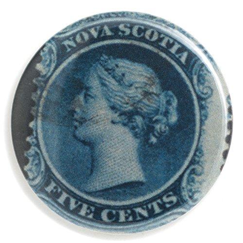 Nova Scotia QV Flat Art Purse Pocket Mirror - Stamp Art Velour Bag Included 2 1/4 (Mirror Nova Art)