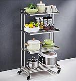 Kitchen storage storage multi-storey floor / stainless steel racks multi-functional practical rack ( Size : 5033107CM )