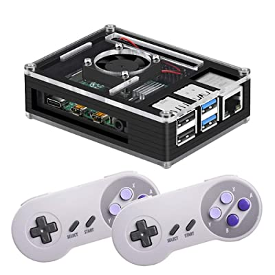 Retropie Raspberry Pi 4 2GB Retro Arcade Over 2700 Games Video Console Complete Build: Computers & Accessories