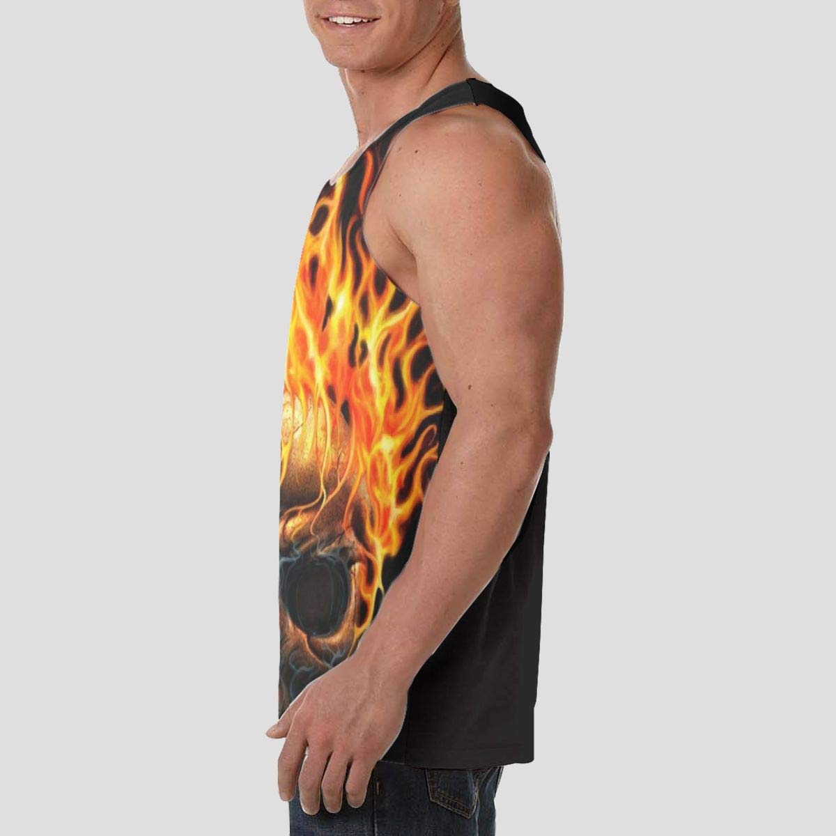 Men Boys Sleeveless Vest Shirts Summer Sweat Shirt Sportswear Sweatproof LIN