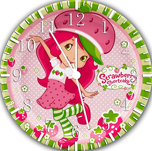 Strawberry Shortcake Frameless Borderless Wall Clock W364 Nice For Gift or Room Wall Decor