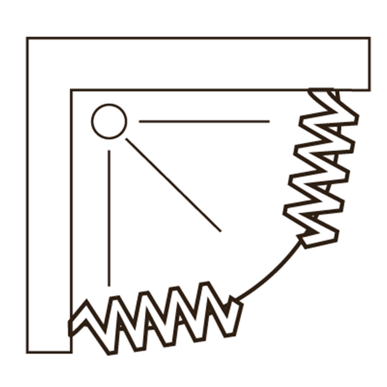 Scorpione con Apertura Central RL Mampara de Ducha 75x75 CM Semicircular de PVC Mod