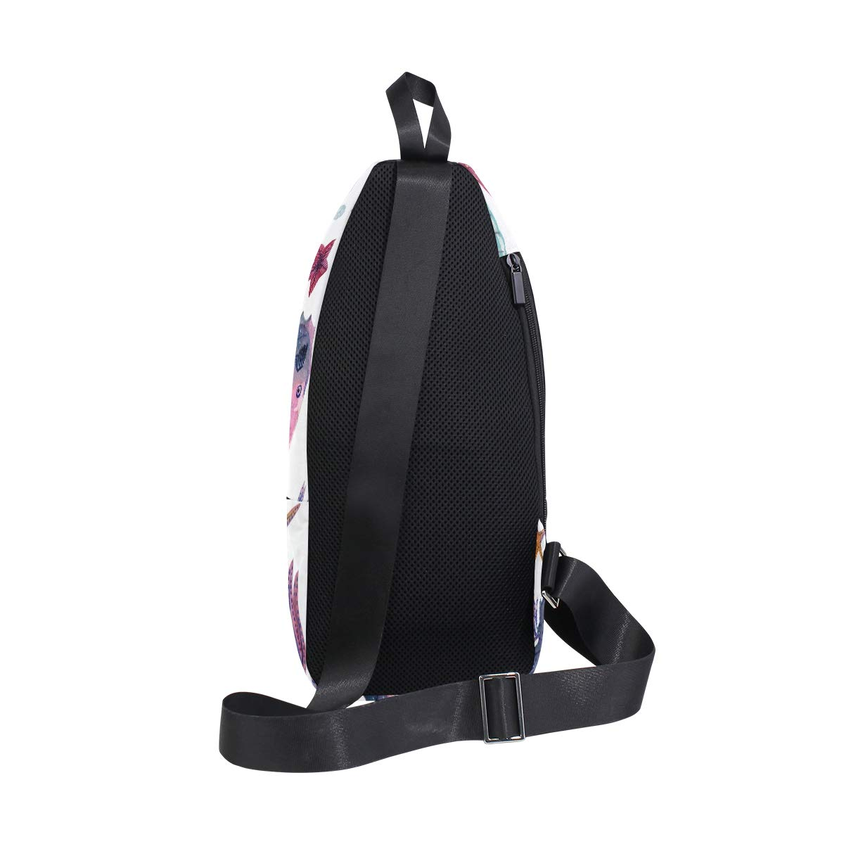 TFONE Cute Sea Horse Ocean Animal Crossbody Bag Lightweight Chest Shoulder Messenger Pack Backpack Sling Bag