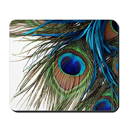 Gaming Mouse Pad for Notepad Peacock Feathers Non-slip Rubber School Desk Decor Mouse Pad for Laptop 10 x 8 - Notepad Peacock Feathers