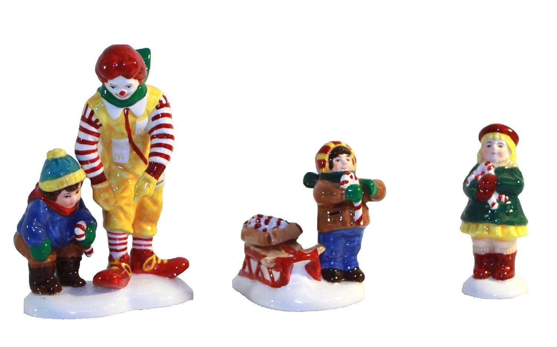 Department 56 Snow Village Kids, Candy Canes... & Ronald McDonald 56.54926