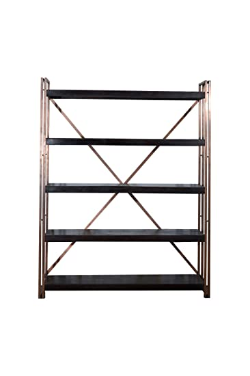 Terroso massivholz bücherregal 150 x 190 x 35 cm industrie-stil ...