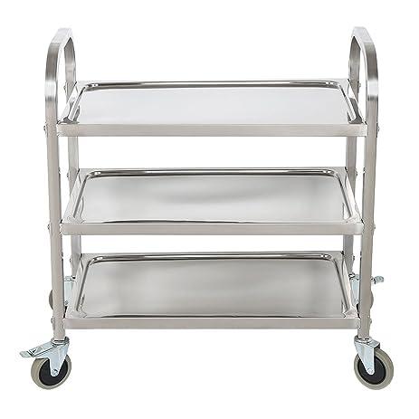 BestValue GO Stainless Steel 3 Tier Kitchen Trolley Kitchen Cart
