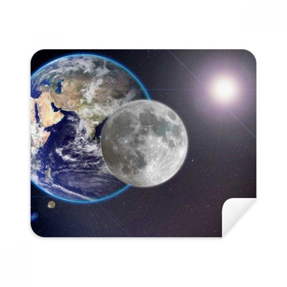 Blue EarthホワイトPlanetホワイト電話画面クリーナーメガネクリーニングクロス2pcsスエードファブリック   B07C93D671