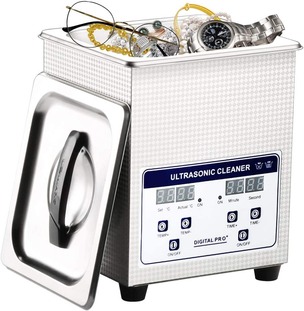 Limpiador ultrasónico 2L Profesional con Temporizador Digital y Calentador, para la joyería vidrios de Reloj dentaduras Small Parts, Industrial Comercial ultrasonido máquina de Limpieza