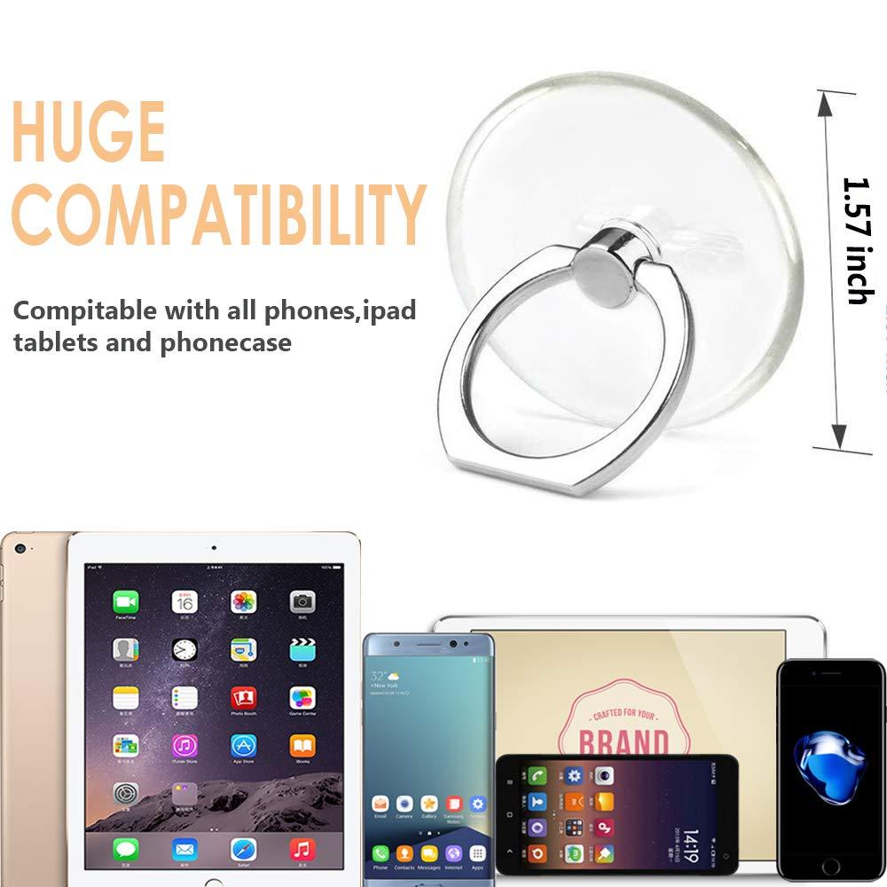 IHUIXINHE T/él/éphone Bague Support 4 Package//Support de Voiture Rotation /à 360 /º et 180/º t/él/éphone Anneau Grip pour Tablette PC Coque Smartphone T/él/éphone Anneau Bague Support Carr/é