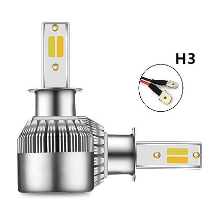H3 Bombilla LED para faros con modo blanco / amarillo, 2-en-1