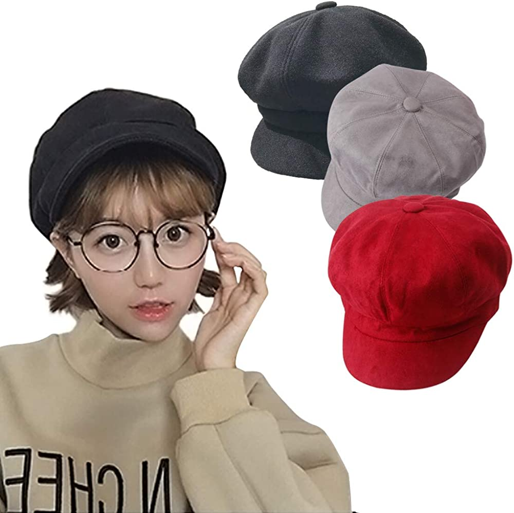CRIVERS 3pc Women Beret...