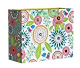 Jillson Roberts 6-Count Medium 10'' x 8'' x 4'' Floral Gift Bags Available in 11 Different Designs, Pretty Petunia