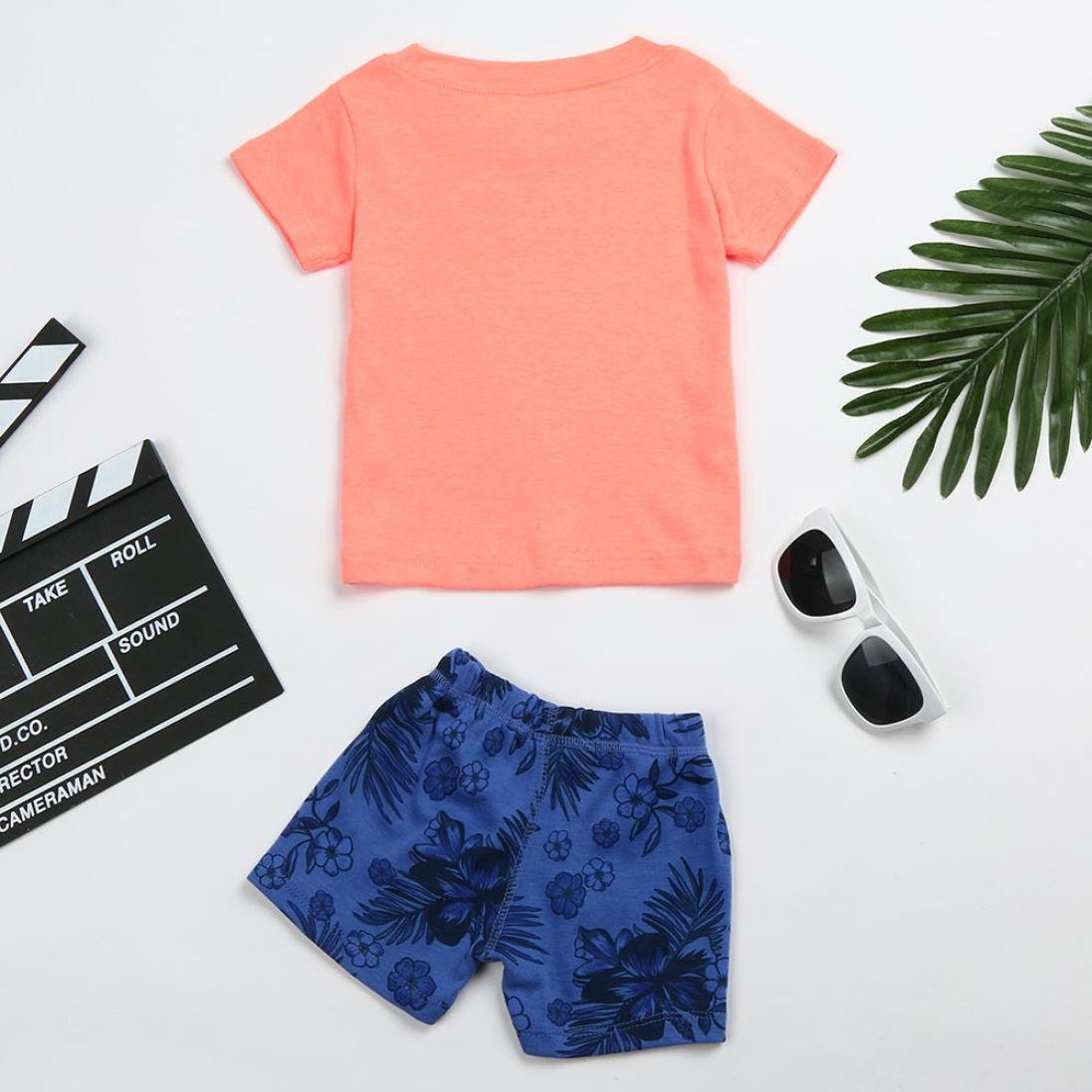 34a56896f Iuhan Clothes Letter T Shirt Tops Shorts Pants Set  Amazon.in ...