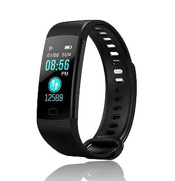 Loopwatch QuickFit Reloj Fitness Tracker Smartwatch GPS Pantalla OLED App Android iOS Cardiofrecuencimetro de muñeca Hombre Mujer podómetro calorías ...