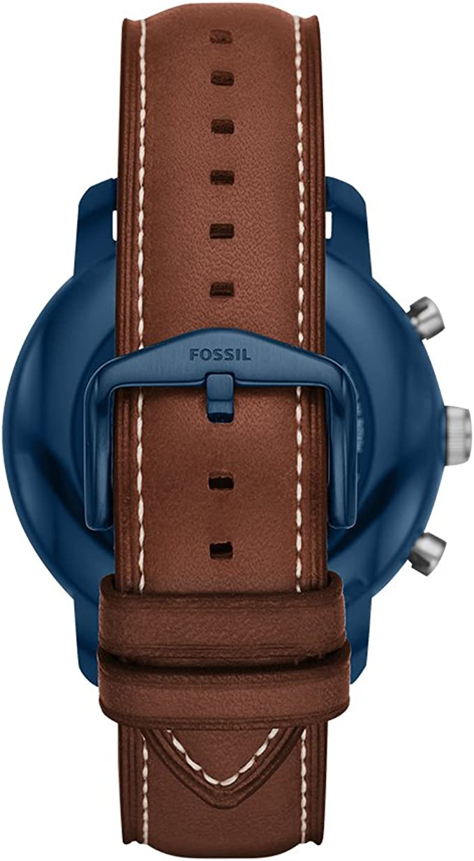 Fossil Q Mens Gen 3 Explorist Stainless Steel Quartz Watch with Leather Strap, Brown, 22 (Model: FTW4004)
