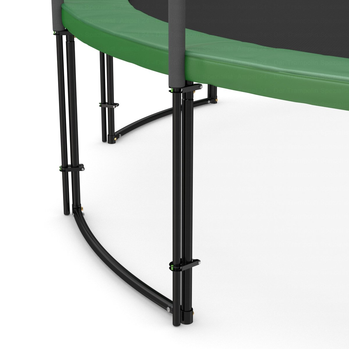 Ampel 24 Deluxe metal brackets for attaching the safety net poles Black Sturdy metal clamps for net poles with a diameter of 2,8 cm Frame diameter: 3,9 cm