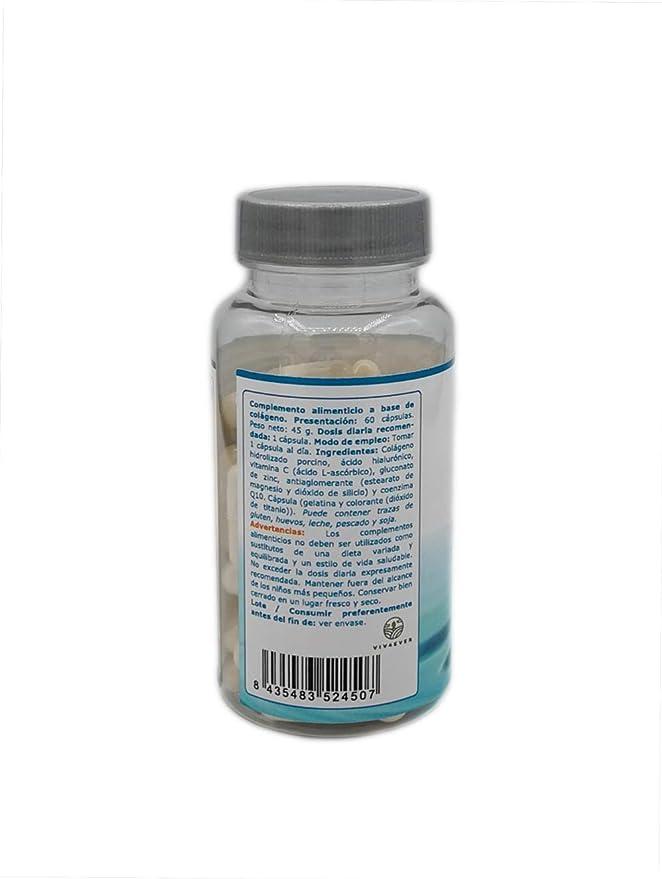 Colageno Acido Hialuronico Vitamina Q10 Vitamina C Ideal para cuidar la piel: Amazon.es: Salud y cuidado personal