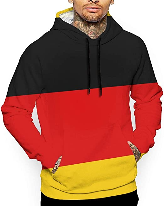 Ou50IL@WY Men's Germany Flag Hooded Fleece, Big & Tall