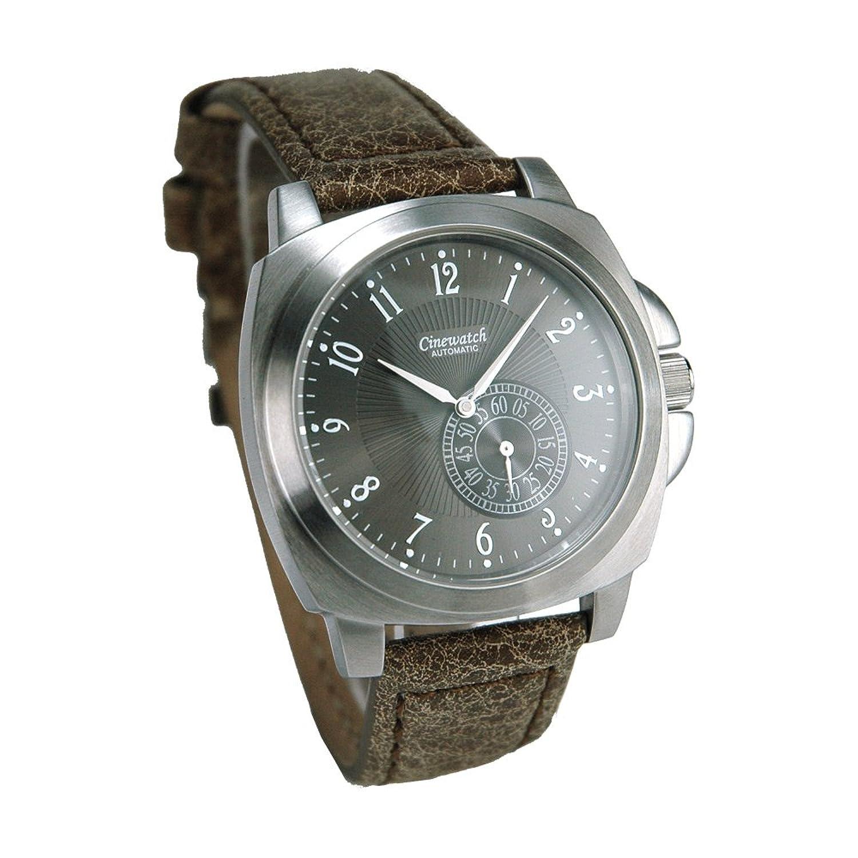 Cinewatch 707545011 Herrenarmbanduhr - MODERN TIMES - Automatik Miyota 8245 - Edelstahl - Lederband - 5 ATM - Glasboden