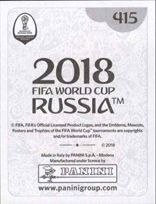 Panini coupe du monde 2018 Branislav Ivanovic Swiss Gold Version SERBIE No 415