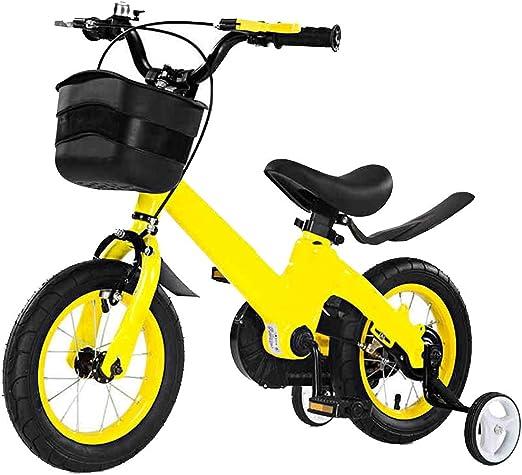YUMEIGE Bicicletas Bicicletas para niños, con una Bicicleta de Entrenamiento para niños 12 14 16 Pulgadas Niños y niñas Ciclismo Adecuado para niños de 2 a 8 años Regalo Amarillo Disponible: Amazon.es: Jardín
