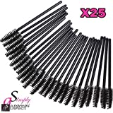 25 X Simply Gorgeous Disposable Eyelash Mini Brush Mascara Wands Applicator