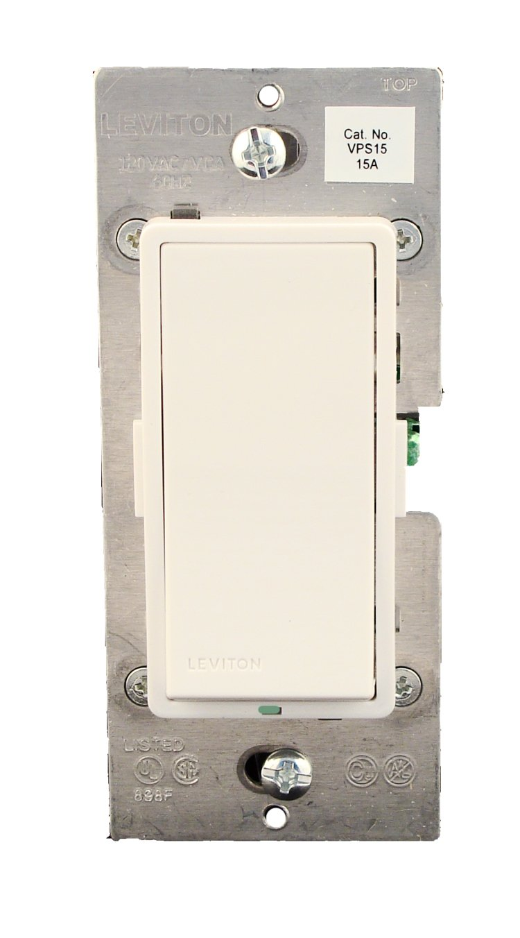 Leviton VPS15-1LZ, Vizia + Digital 15A Electronic Switch, Single ...