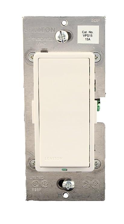 Leviton VPS15-1LZ, Vizia + Digital 15A Electronic Switch, Single ...