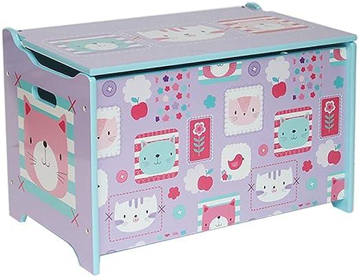 HS-18HMD-003 - Caja de almacenaje para Juguetes (60 x 36 x 39 cm, con Espacio de Almacenamiento), Color Lila: Amazon.es: Juguetes y juegos
