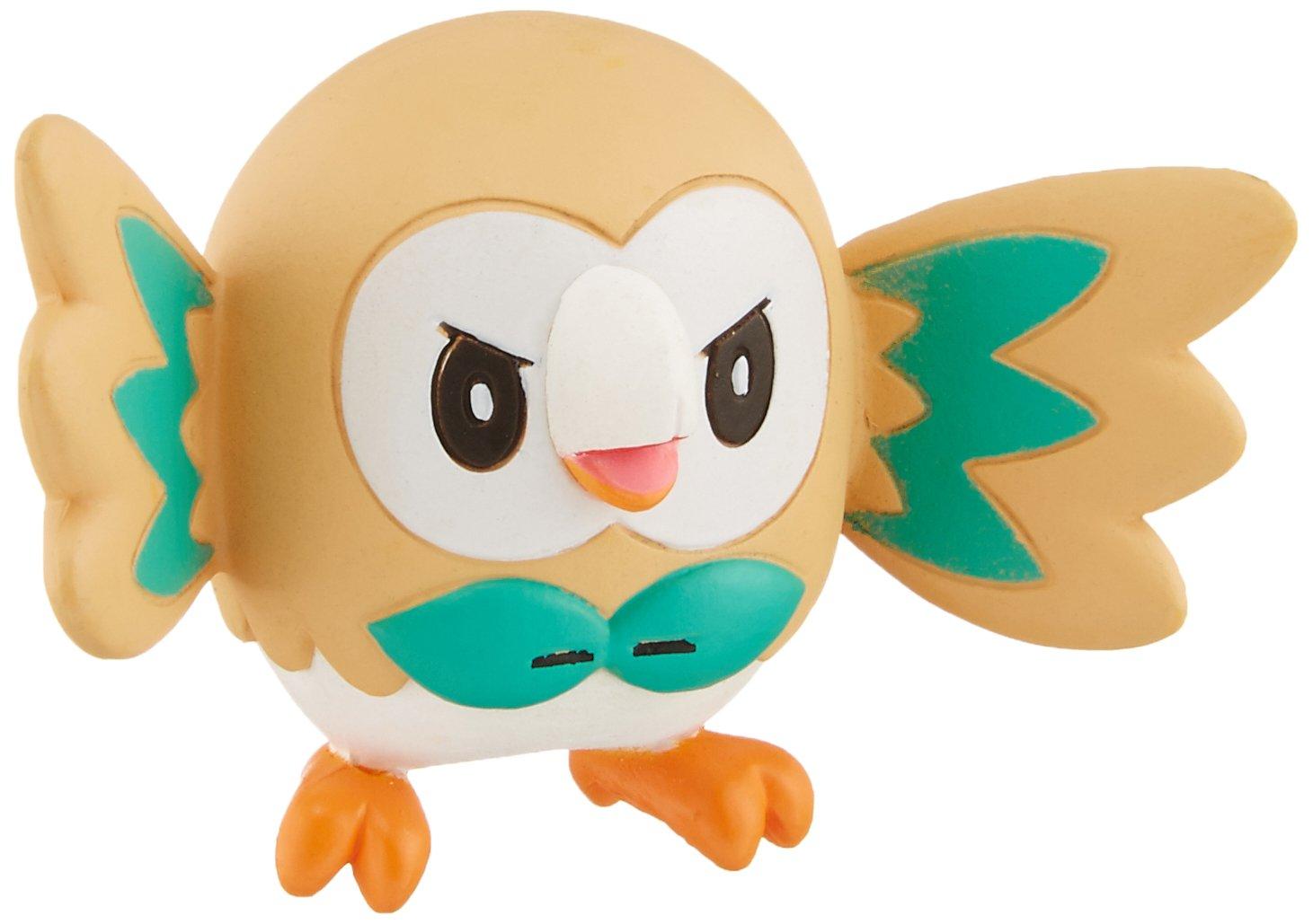 Takaratomy EX EMC-02 Pokemon Rowlet Mini Action Figur 1.5-Inch JBK International 4904810863700
