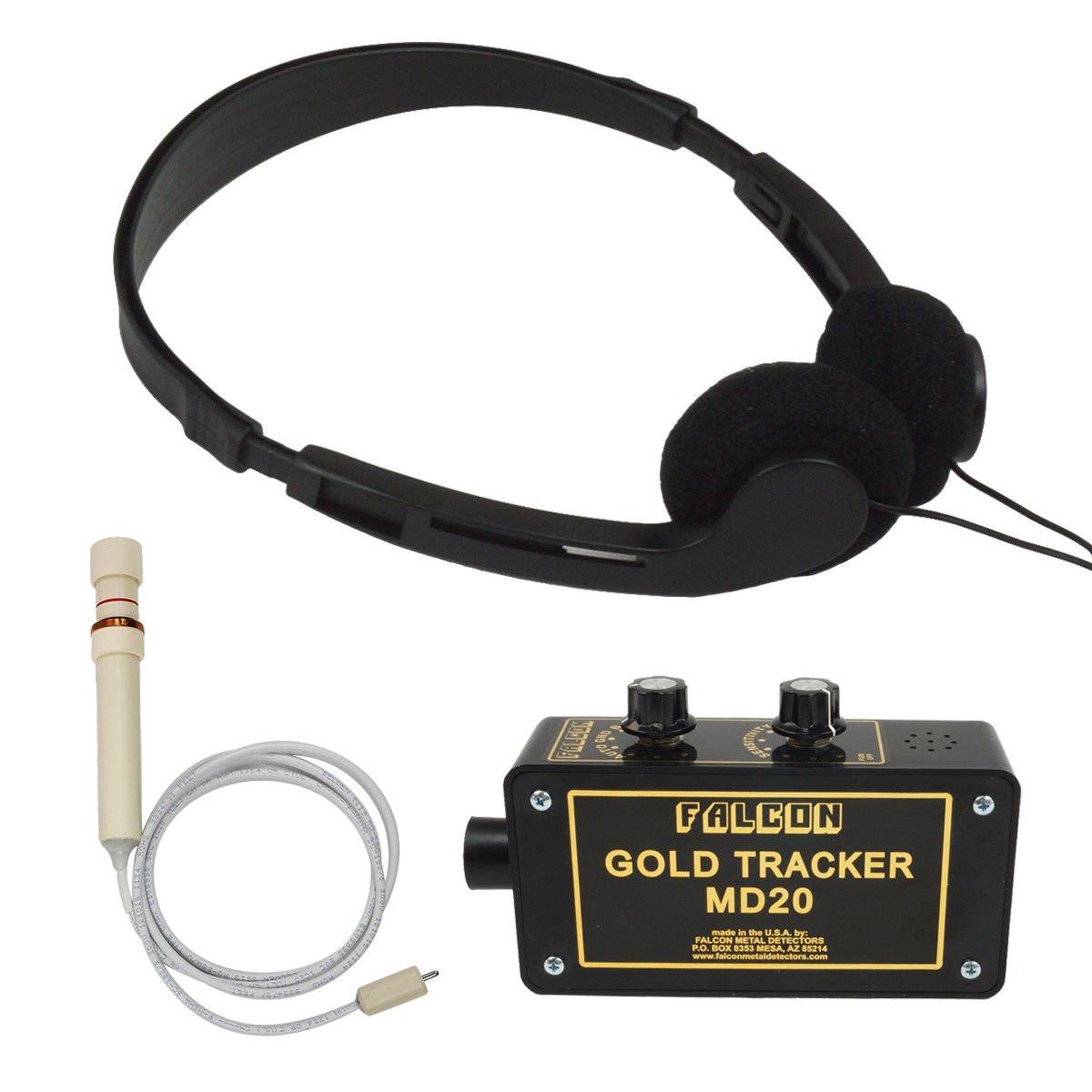Falcon oro Tracker MD20 detector de metal sonda de 300 kHz con auriculares: Amazon.es: Jardín