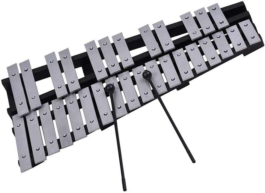 Volwco 30 Note Wooden Glockenspiel Xylophone,Professional Glockenspiel Percussion Musical Instrument with Mallets /& Sturdy Bag,for Children Educational//Beginner//Birthday Gift