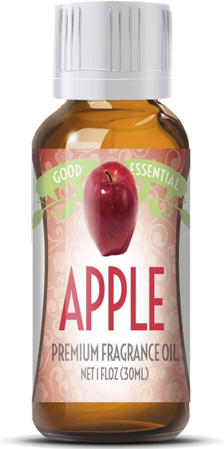 Apple Scented Oil by Good Essential (Huge 1oz Bottle - Premium Grade Fragrance Oil) - Perfect for Aromatherapy, Soaps, Candles, Slime, Lotions, and More!