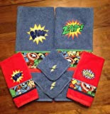 Super Hero Comic Style Bathroom Towel Set